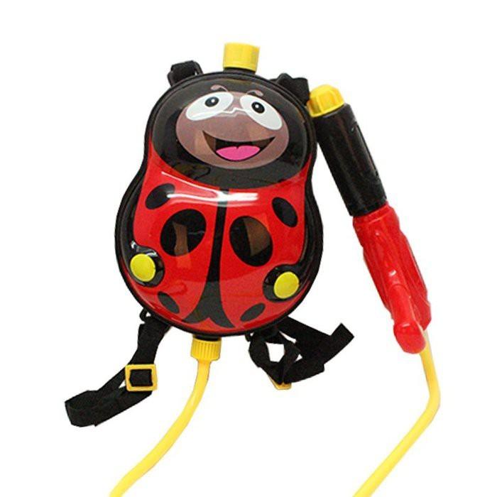 瓢蟲 背包水槍 抽拉 沙灘 兒童 戲水玩具 背包水槍cf143587