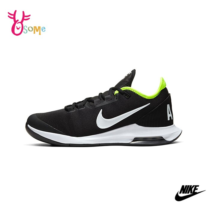 NIKE網球鞋 男鞋 運動鞋 跑步鞋 慢跑鞋 氣墊避震 耐磨 COURT AIR MAX WILDCARD Q7013#黑綠◆OSOME奧森鞋業