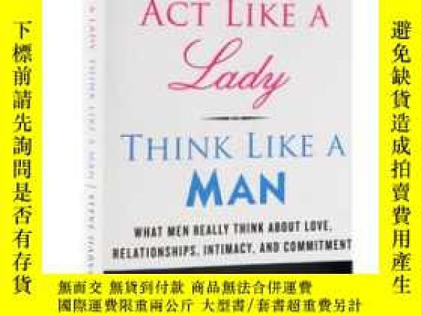 二手書博民逛書店英文原版罕見Act Like a Lady, Think Lik