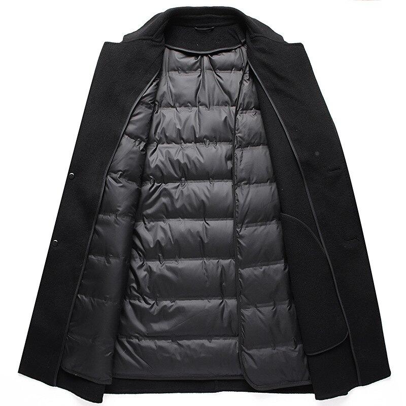 毛呢外套中長款大衣-羊毛羽絨經典復古男外套73yu49【獨家進口】【米蘭精品】