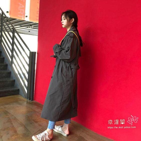 風衣 炸街風衣女中長款2020春秋季新款氣質流行大衣韓版寬鬆過膝外套