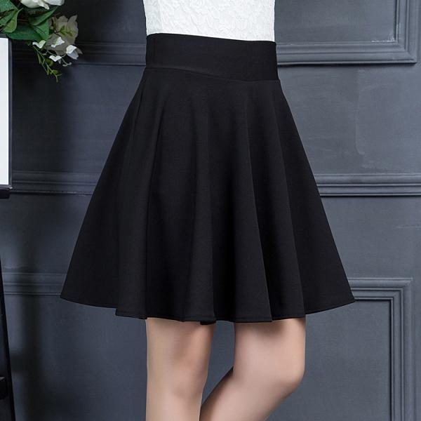 黑色半身裙子女2020春夏季新款百褶裙高腰a字蓬蓬裙顯瘦大擺短裙 【ifashion·全店免運】