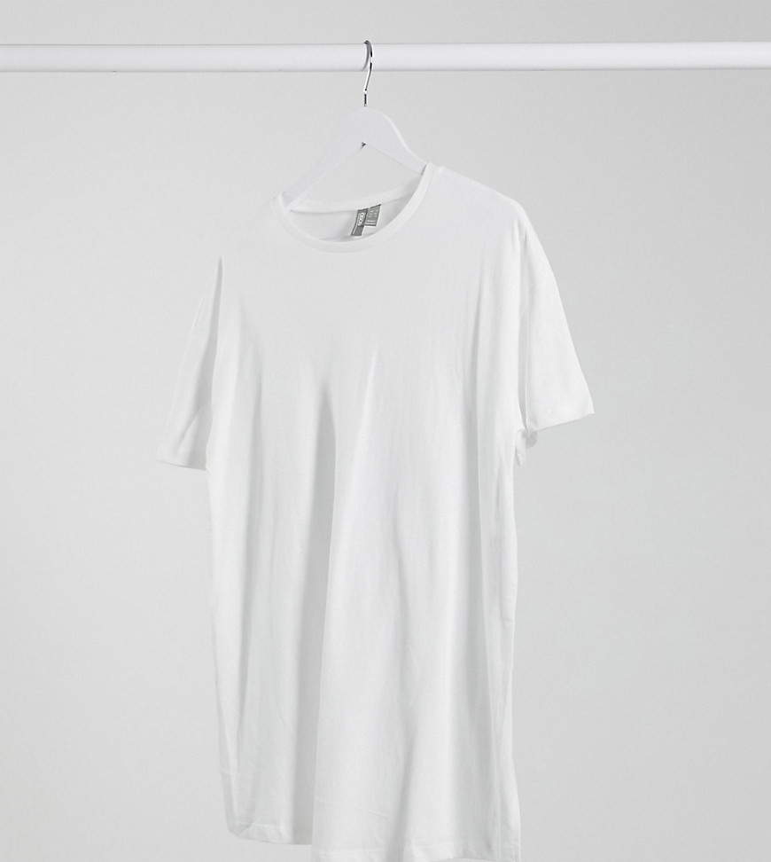 ASOS DESIGN Maternity textured longline t-shirt with side splits in white