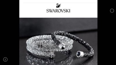 Swarovski Crystaldust Cuff/Bangle 施華洛世奇 單圈手環 白色水晶手環