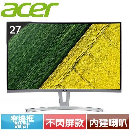 Acer宏碁 ED273 27型 VA曲面無邊美型螢幕