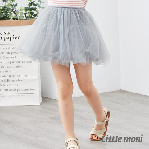Little moni 浪漫女孩紗裙(灰色)