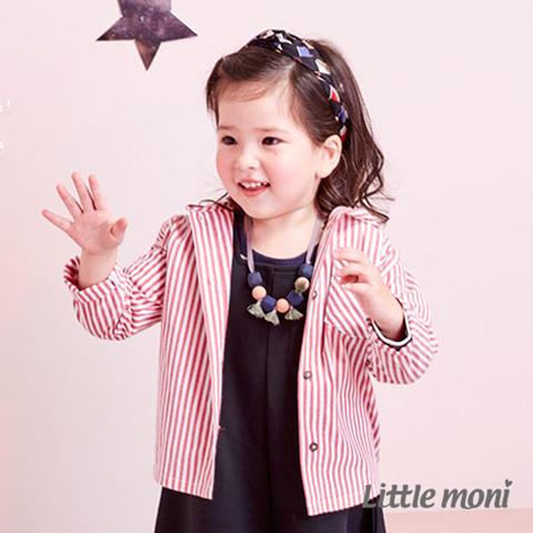Little moni 兔耳連帽襯衫式外套(紅色)
