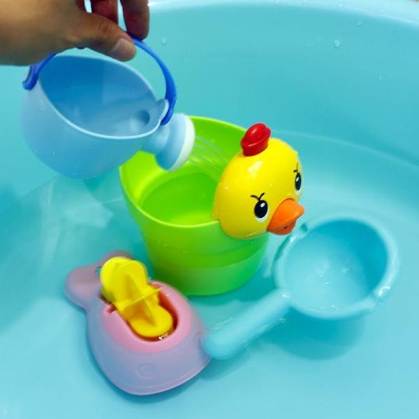 兒童洗澡玩具戲小黃鴨洗頭杯嬰兒寶寶灑水壺【雲木雜貨】