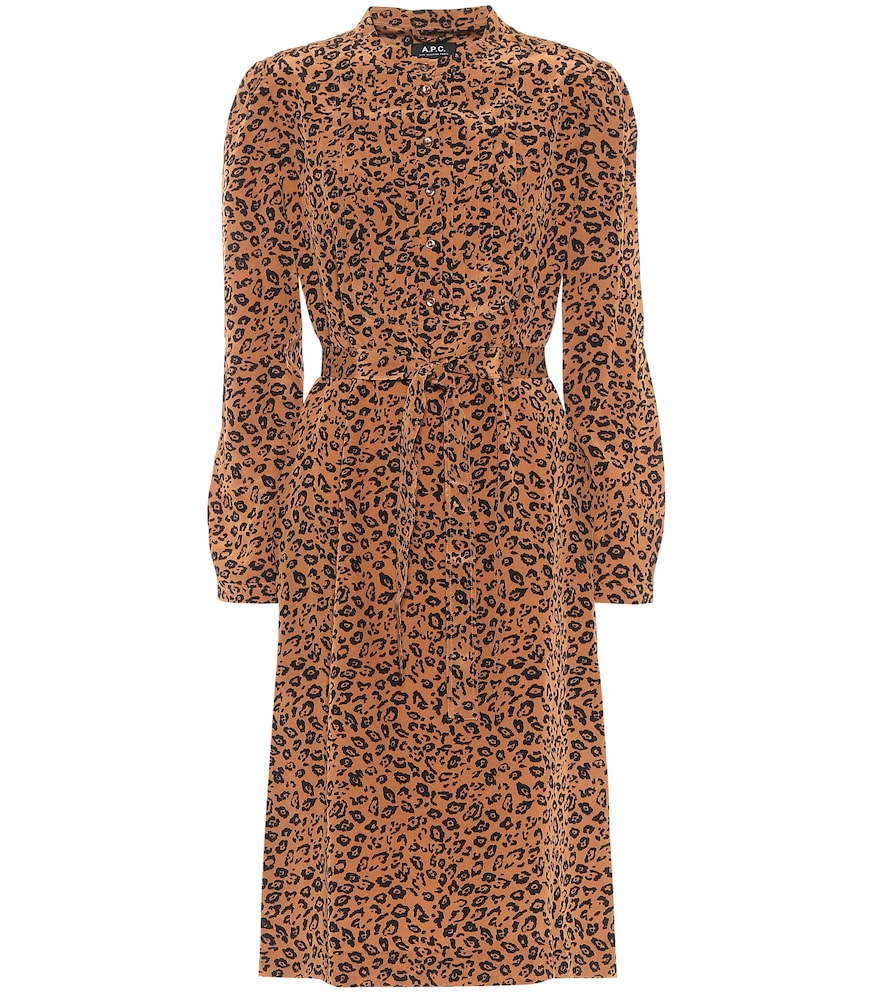 Lio leopard-print silk midi dress