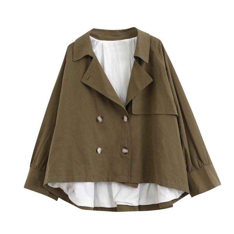 風衣外套短版斗蓬-薄款寬鬆休閒百搭女外套2色73yr4【獨家進口】【米蘭精品】