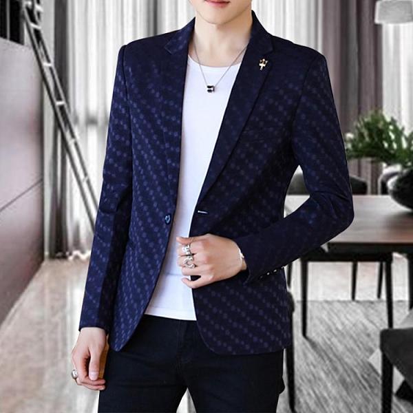 春秋季休閒西服男士修身帥氣青年韓版小西裝外套潮流單西上衣薄款 有緣生活館