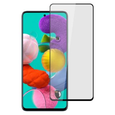 【Ayss】Samsung Galaxy A51 5G/4G/6.5吋/2020/平面滿版全膠/玻璃鋼化保護貼膜/四邊弧邊-黑