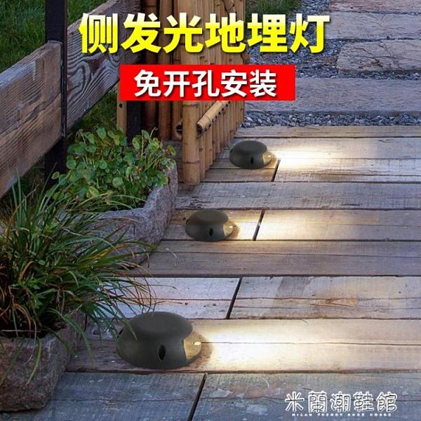 地埋燈 地埋燈led戶外防水庭院地面射燈臺階燈花園草坪地面燈室外埋地燈 快速出貨