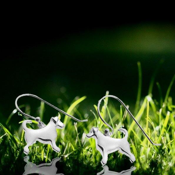 銀淬坊 PurCoeur 925純銀 動物系列可愛忠心小狗耳環1對