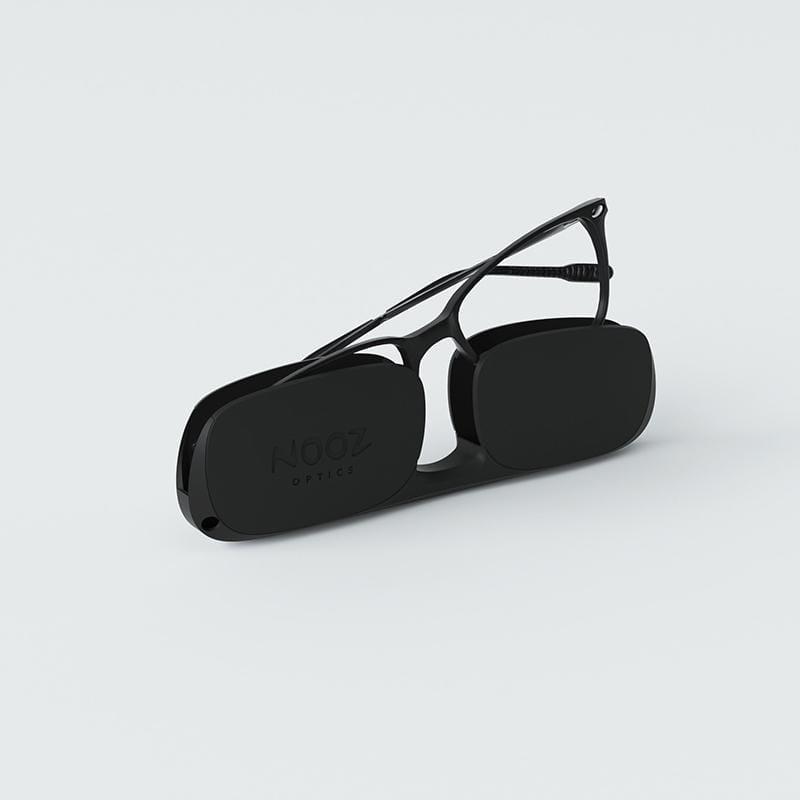 時尚造型老花眼鏡-鏡腳便攜款(矩形-黑) 100