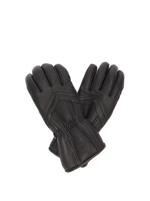 Toni Sailer - Leyla Panelled Leather Ski Gloves - Womens - Black