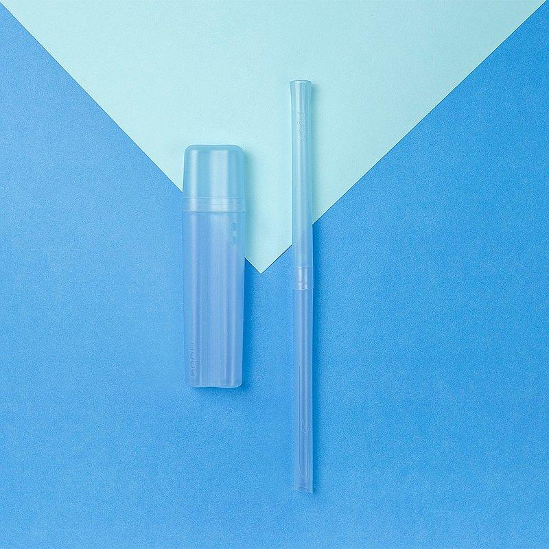 TRUEGRASSES 小藍鯨吸管/nubo55/海洋款/天空藍