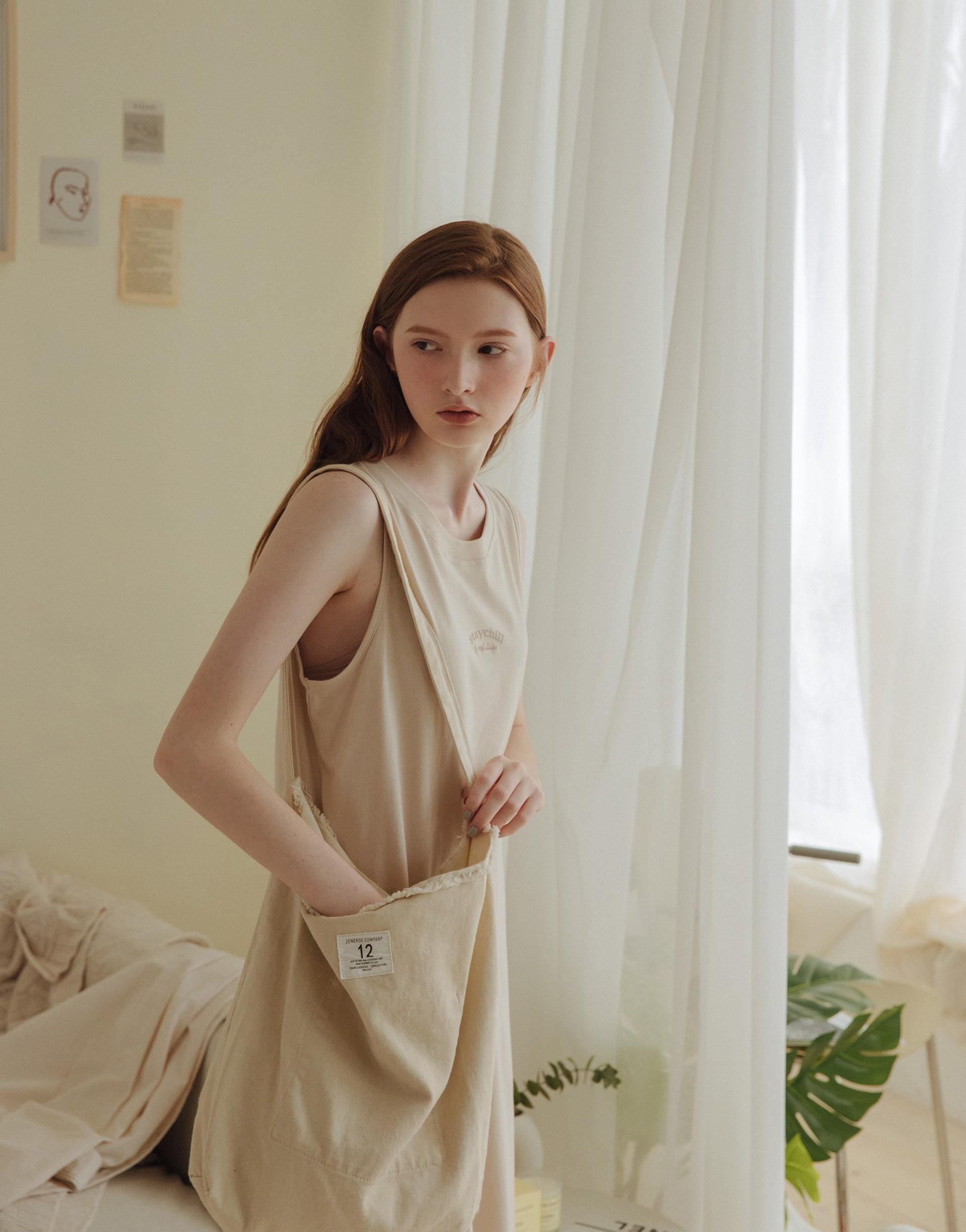 自在舒適美式印花背心洋裝-PAZZO