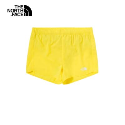 The North Face北面女款黃色防潑水舒適短褲|4NDHDW9