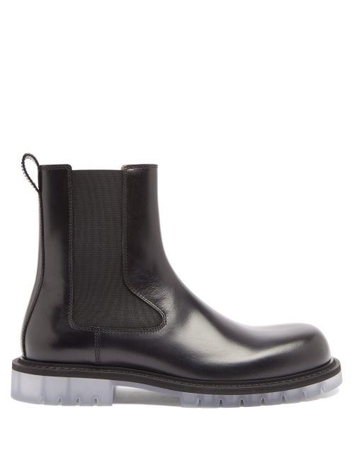 Bottega Veneta - Transparent-sole Leather Chelsea Boots - Mens - Black