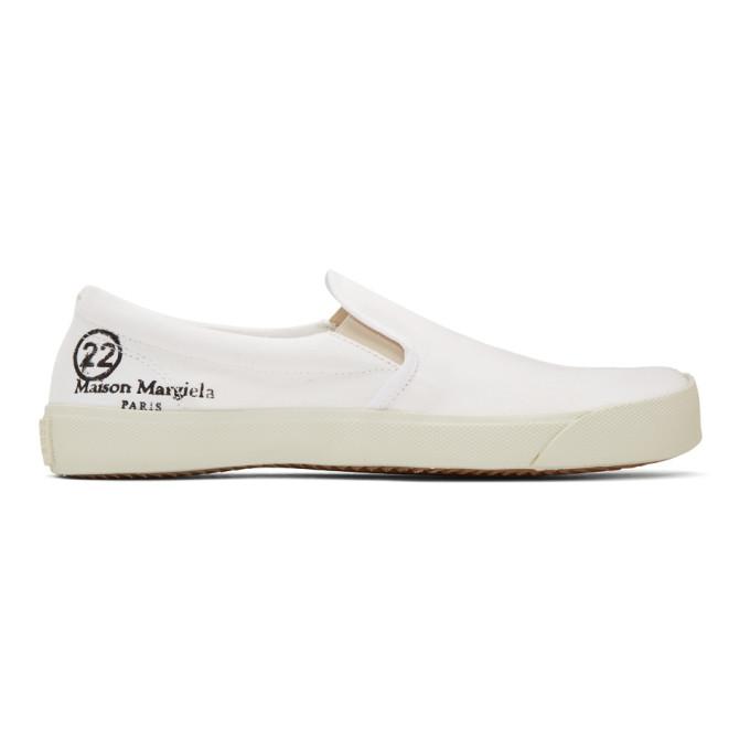 Maison Margiela 白色 Tabi 无带运动鞋