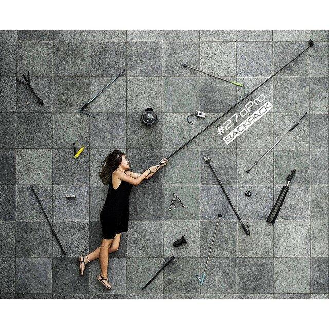 【eYe攝影】現貨 公司貨 270Pro BackPack 二代 黑色碳纖維 自拍桿 最短40cm GoPro 自拍棒