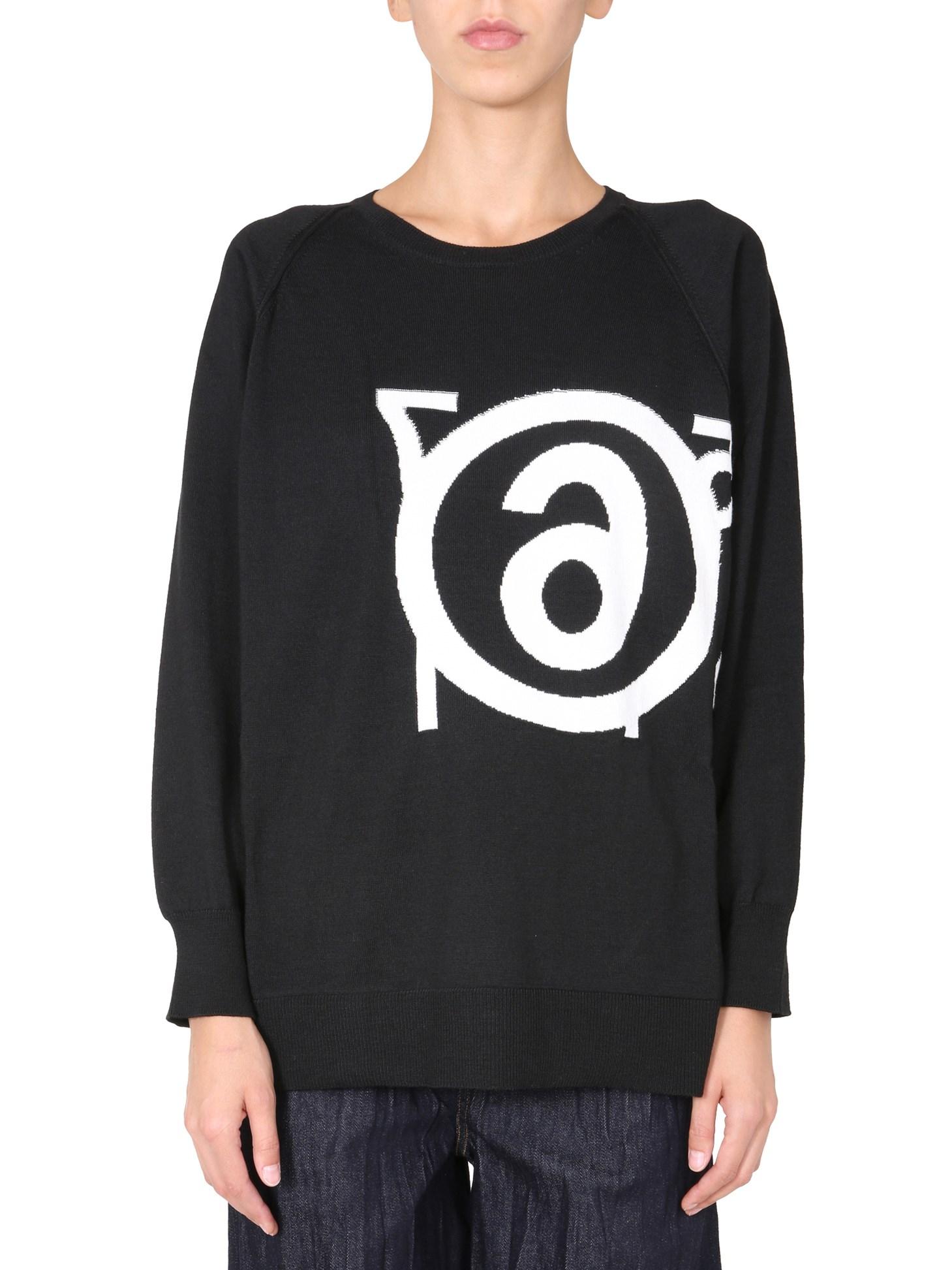 mm6 maison margiela round neck sweater