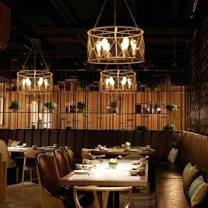【H&R安室家】58x31cm大號圓形鐵網吊燈