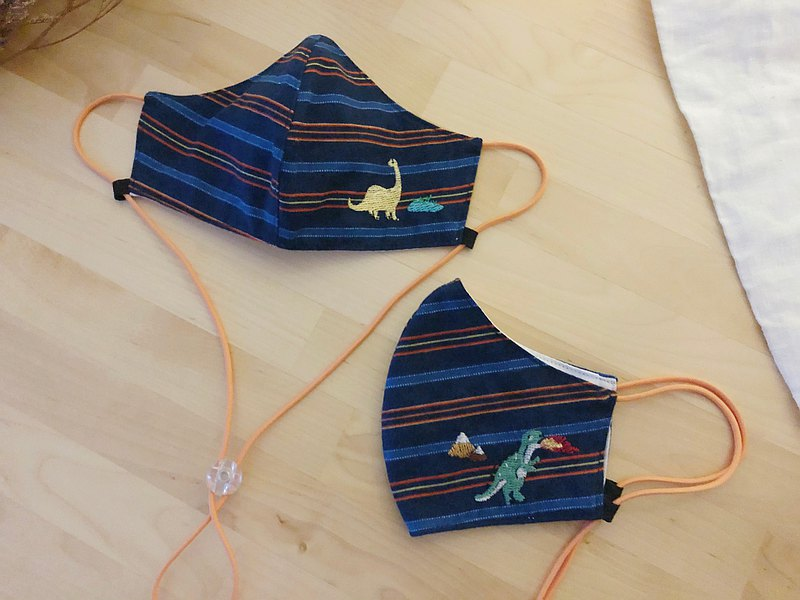 3d面具:恐龍刺繡〜可調弦