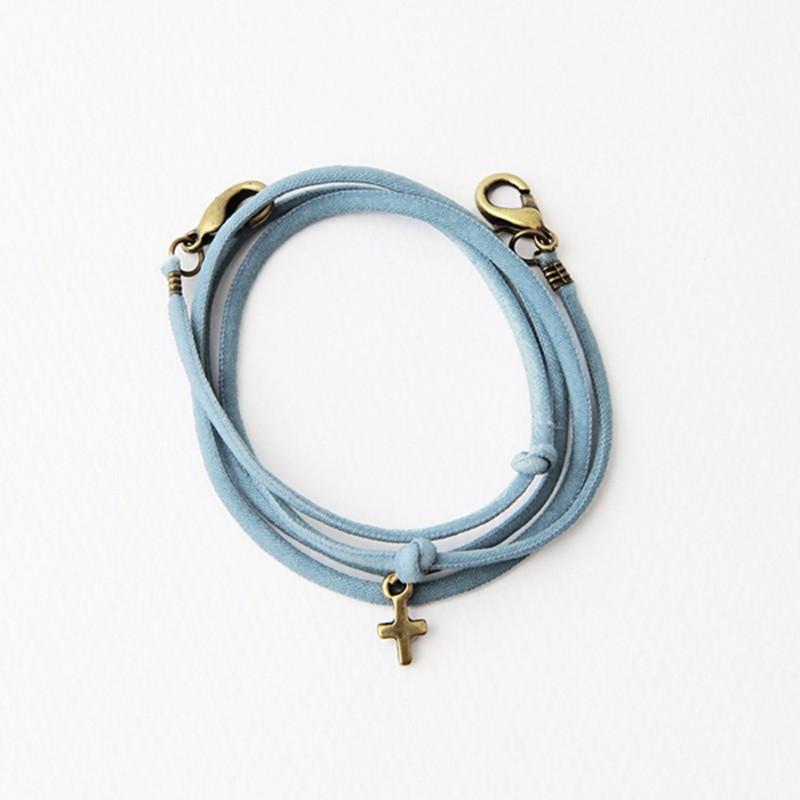 Gracebell 口罩頸鍊-十字墜飾系列(02.摩登藍)