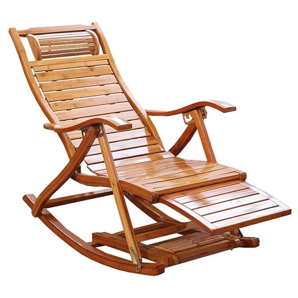 夏天折疊躺椅成年人竹椅搖椅老年休閒逍遙椅實木靠背椅家用午睡椅 【母親節禮物】