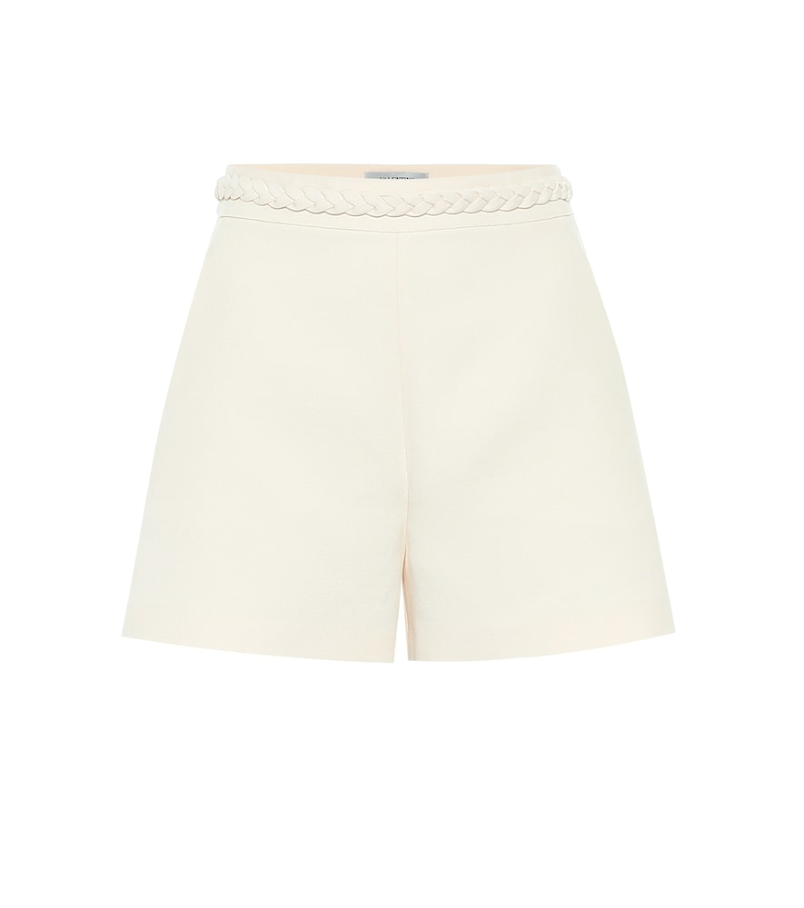Valentino high-rise crêpe shorts