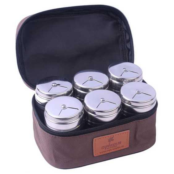 戶外燒烤調味罐 不銹鋼便攜手提調味瓶 調料盒調味罐  全館85折鉅惠~滿299免運 秋冬特惠上新~