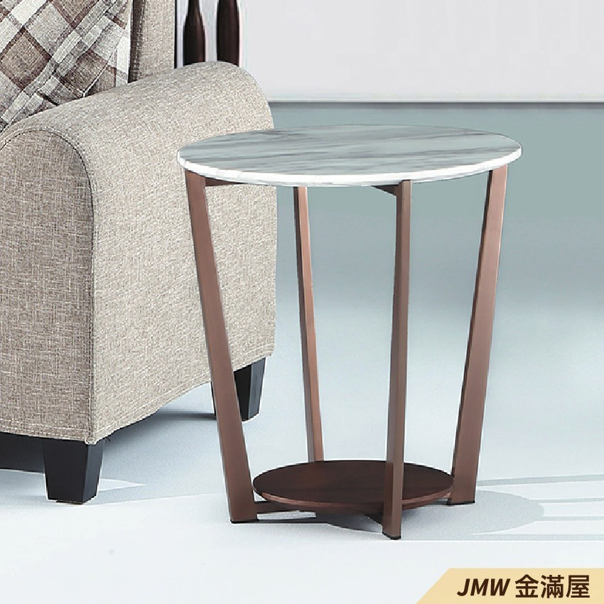 圓50cm客廳茶几組 北歐工業風桌金滿屋實木原木玻璃 大理石長方桌 大小邊几 圓桌 g657-5