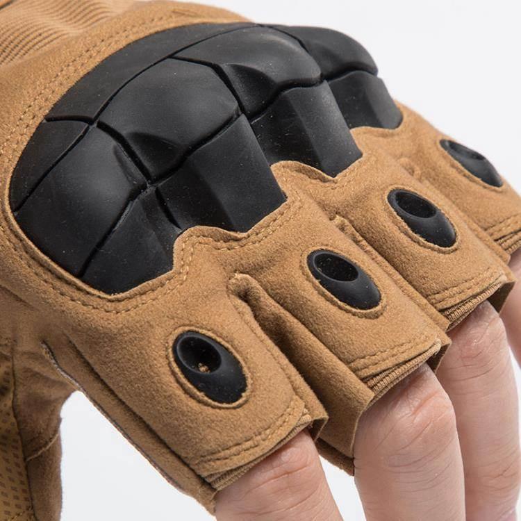 戰術手套 戰術半指手套男士夏特種兵格斗拳擊戶外騎行機車摩托運動健身露指 99購物節