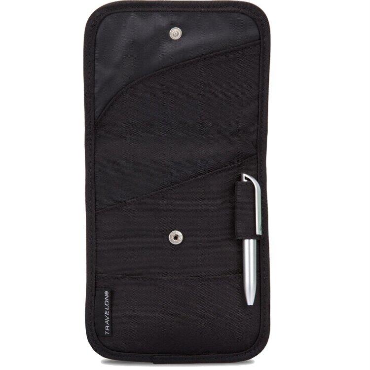 TRAVELON 頸掛式隨身包/護照包/證件袋 TL-42764 黑