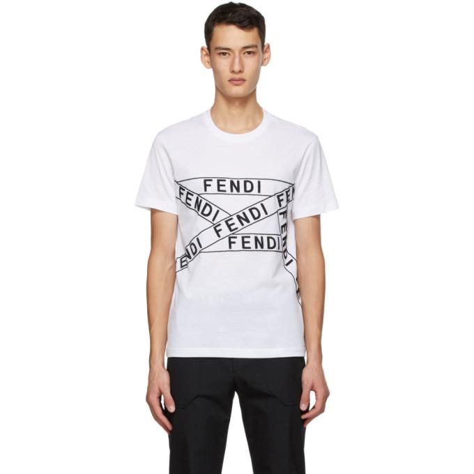 Fendi 白色徽标 T 恤