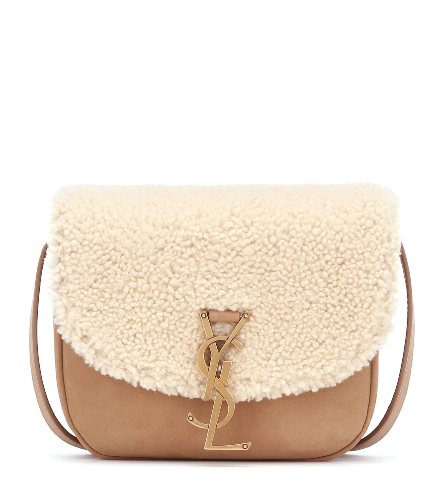 Kaia Medium shearling crossbody bag