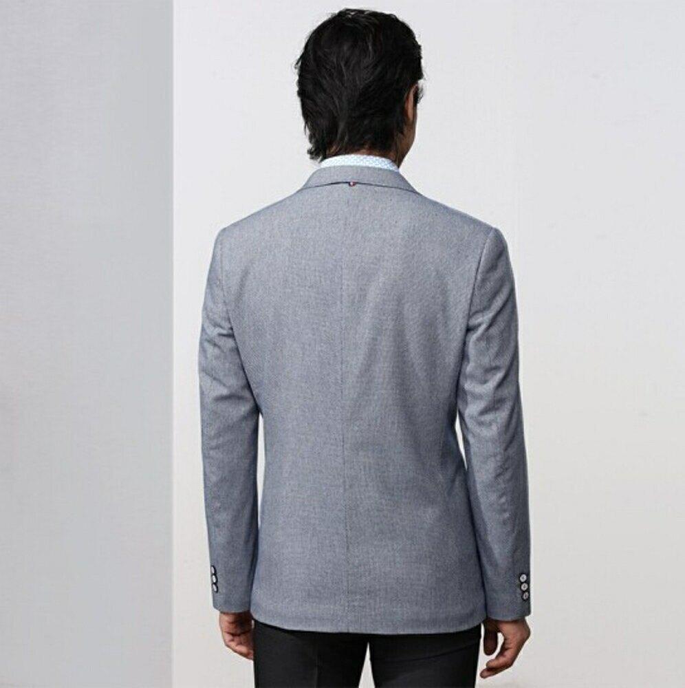 西裝外套 男士青年春季商務休閒純色小西裝百搭修身時尚便西服外套