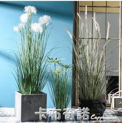 夯貨折扣!仿真植物盆栽蒲葦草蒲公英裝飾擺件室內客廳櫥窗綠植大型蘆葦盆景