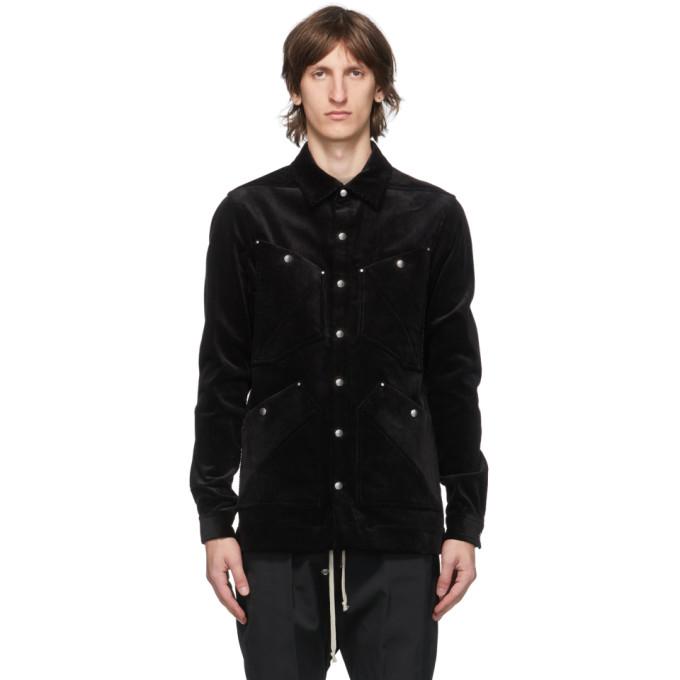 Rick Owens 黑色 Four Pocket 衬衫夹克