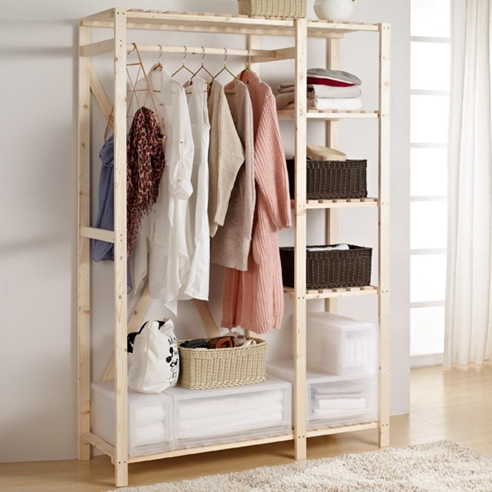 特力屋 松木衣櫥架 122X46X180公分
