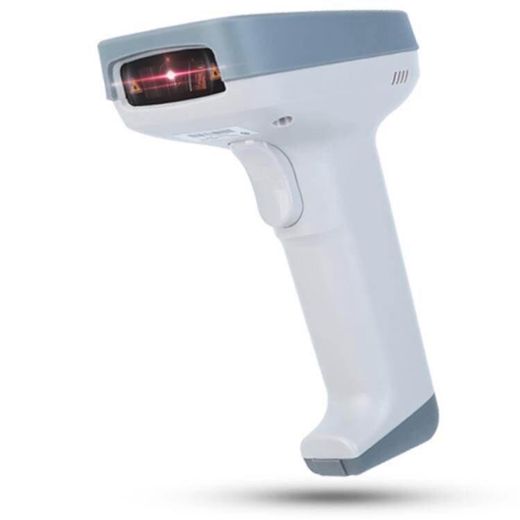 掃碼槍 得力14953有線無線激光商標掃描槍快遞單條碼一維碼掃碼器機超市商標快遞掃碼無線
