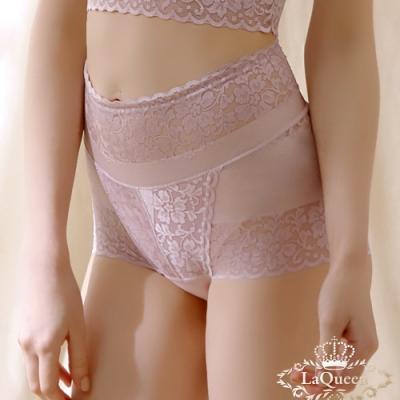 塑褲 無痕蠶絲底包覆輕塑美臀褲-豆沙  La Queen
