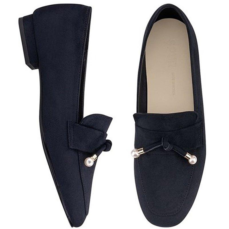 PRE-ORDER SPUR 珍珠樂褔鞋 PA8001 Navy