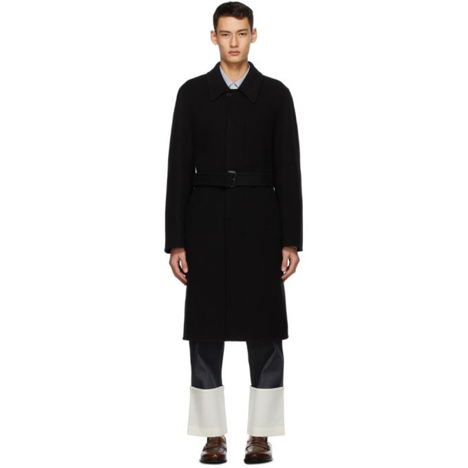 Loewe 黑色翻领大衣