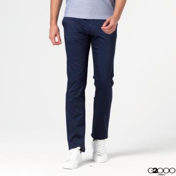 G2000斜紋休閒斜袋長褲--藍色