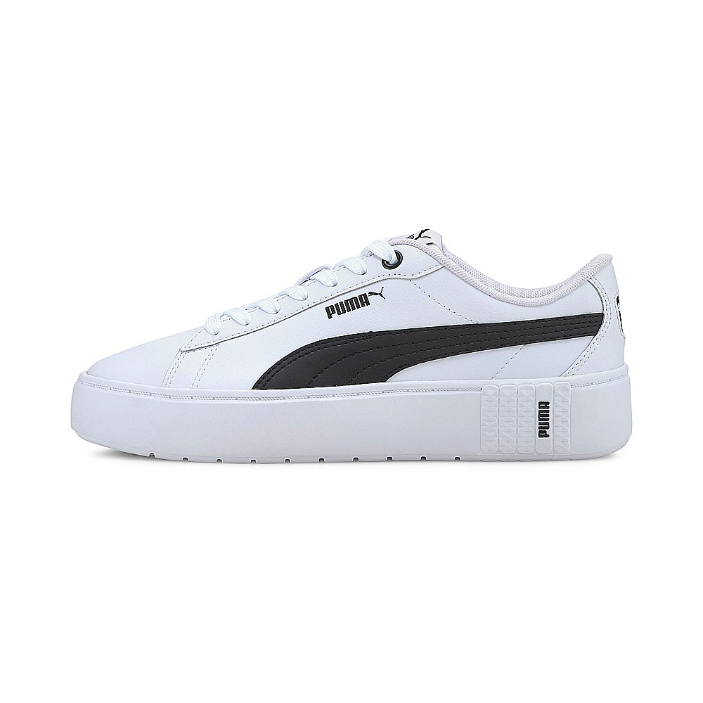 PUMA-PUMA Smash Platform v2 L 女性復古網球運動鞋-白色(37303502)
