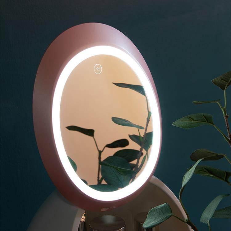 網紅化妝品收納盒防塵帶鏡子一體桌面護膚品抖音同款梳妝臺置物架 DF