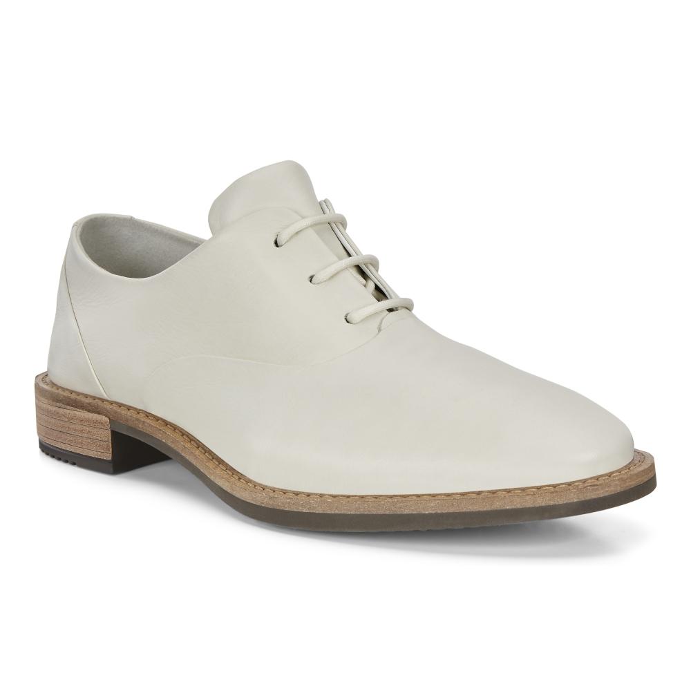 ECCO SARTORELLE 25 TAILORED 英倫風細緻牛津皮鞋 女鞋(白 26640301152)